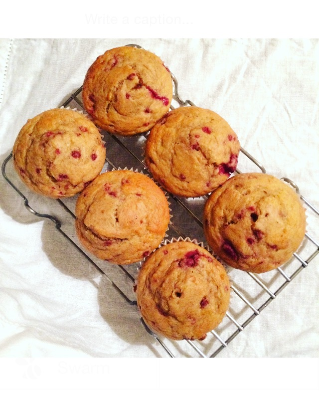 Banana Raspberry Muffins