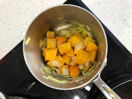 Pumpkin and Leek Puree