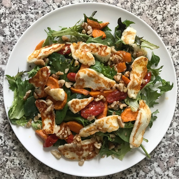 Haloumi and Sweet Potato Salad