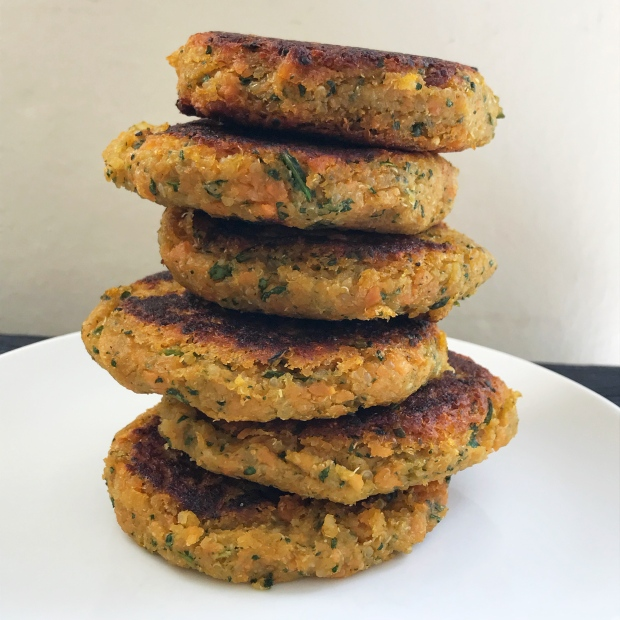 Sweet Potato Quinoa and Spinach Fritters