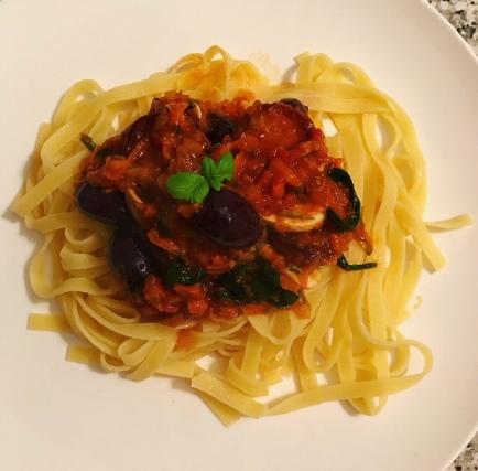 Tagliatelle with Napoletana Sauce